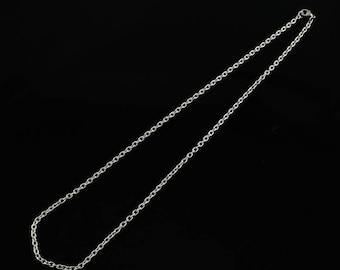 "Hypoallergenic 304 Grade Stainless Steel Cross Chain - 20"""