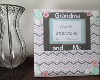 5x7 Grandma and Me Themed - Hand Decorated Picture Frame
