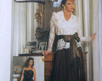 Simplicity 7163 Misses Camilsole Pattern Blouse Skirt and Sash Pattern Size 10 Eur 38