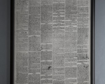 New York Times Newspaper First Issue Reproduction: Unframed Vintage New York Newspaper from September 18th, 1851