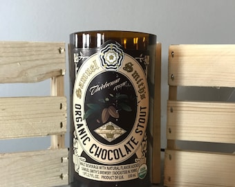 Samuel Smith's Organic Chocolate Stout (22 oz) - Wood Wick Beer Bottle Candle