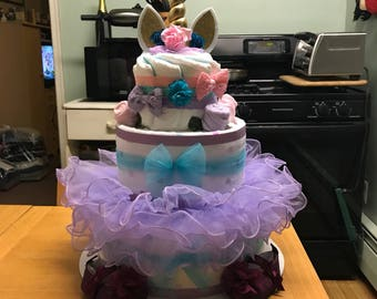 Any Color Unicorn Diaper Cake
