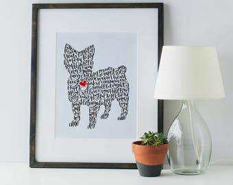 Custom Pet Silhouette Illustration
