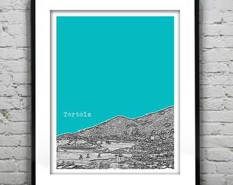 Tortola British Virgin Islands BVI Skyline Poster Art Print