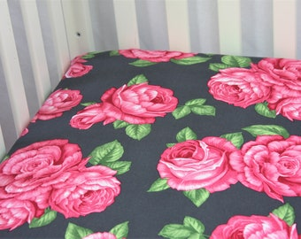Fitted Crib Sheet / Mini Crib Sheet - Rosey Night