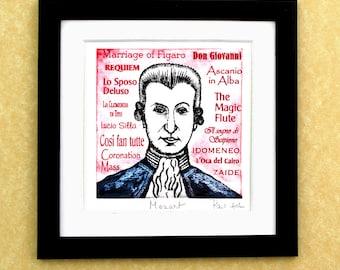 Wolfgand Amaseus MOZART - a portrait art print of the great Austrian composer