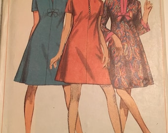 Simplicity 7250 misses 1967 dress sewing pattern size 16