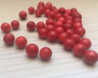 Natural Coral beads 8mm