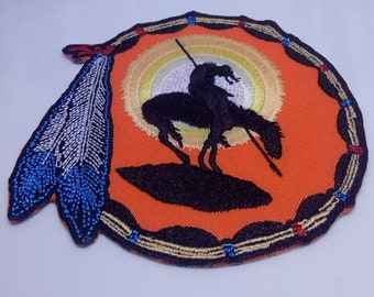 Southwest Native American End of Trail Trail of Tears Iron on patch Embroidery