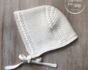 48 / Bonnet bébé Prince Louis / Explications tricot en Anglais / PDF Téléchargement Instantané / Taille : Naissance - 3 mois