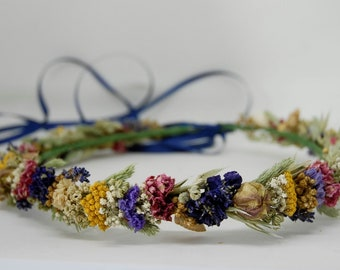 Dry flower wreath ' blue wonder '