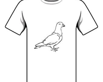 Handmade Pigeon T-shirt