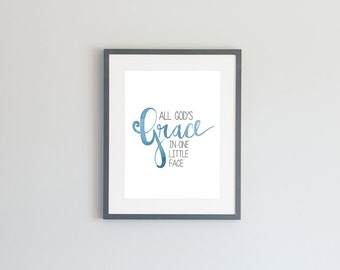 Hand Painted Watercolor Archival Giclée Print - All God's Grace