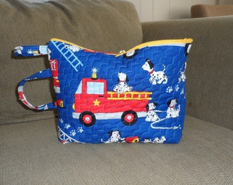 ECO FRIENDLY TOY Bag /Baby Shower Gift / Toy Tote 4 Tots /Toy Tote 4 Toddlers /Machine Quilted n Handmade Tote/Travel n Storage Solution