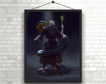 Harry Potter Voldemort Art Unique Poster