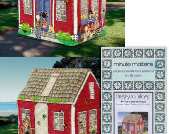 3D BrightSea Village 9 BrightSea Village School House Cross Stitch Pattern