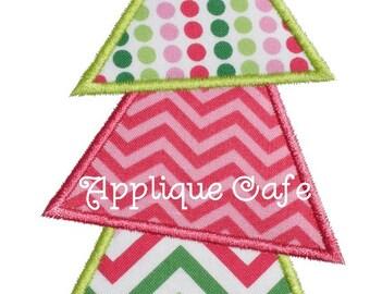 815 Christmas Tree 11 Machine Embroidery Applique Design