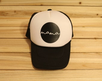 Mama Trucker Hat, Mom Trucker Hat, Mom Hat, Mama Hat, Custom Trucker Hat, Trucker Hats for moms,