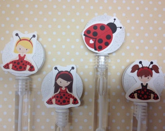 Ladybug Party Favor Bubbles - Set of 10