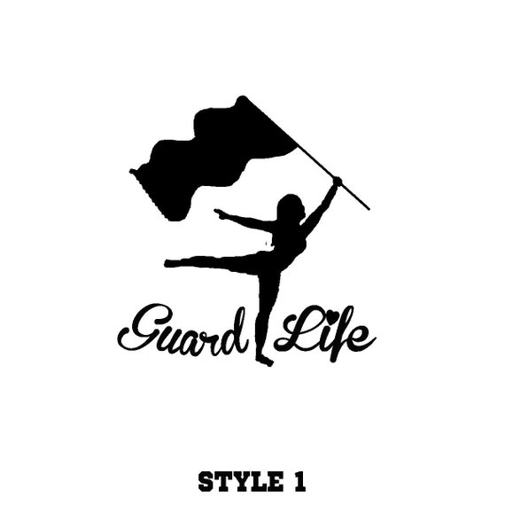 Colorguard Guard Life Decal Many Colors Available Custom