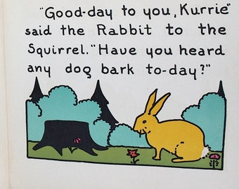 Children's Picture Book - Children's Book - Nursery Decor - Art Prints - Squirrel Art Pictures - Rabbit Pictures - Children's Illustrations