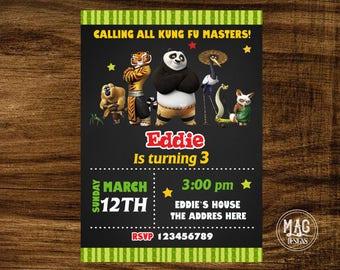 Kung fu Panda Invitation- Kung fu Panda Birthday Party Invitations - Kung fu Panda Digital Invitations.