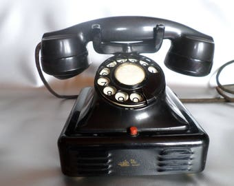 Ericsson Bakelite Telephone * Pyramid telephone * phone * MFG Campany Anverse, Belgium, 1920/1930