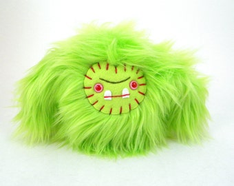 Plush sasquatch monster Zombie Yeti Plush toy lime green stuffed animal ugly cute kawaii big foot beast plushie geek small toy Halloween Toy