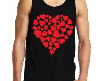 Heart Of Hearts Valentines Day Love Holiday Gift Idea Romance Romantic Men's Tank Top SF-0445