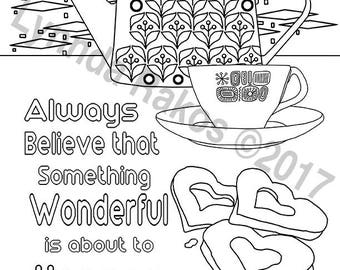 Always Believe an instant download coloring page