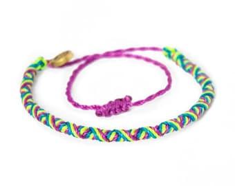 Charm Bracelet - Purple Watercolor 2 by VIDA VIDA mvH7E