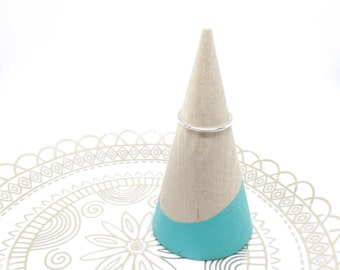Mint Green Dipped Wood Ring Stand, Modern Ring Holder, Ring Cone, Minimalist Ring Holder, Wood Ring Cone, Wood Cone, Ring Holder