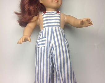 Vintage Homemade Doll Clothes, Overalls for 18 inch Doll, 1940's, Free Shipping