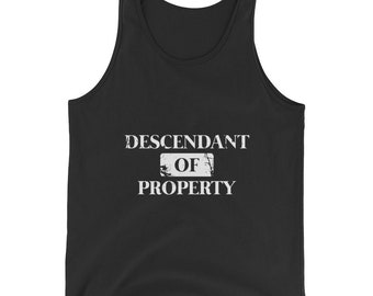 Descendant of Property Bella And Canvas Men's Tank Top