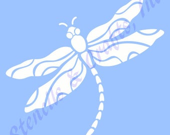 11 5 dragonfly big stencil template pattern background