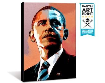 Barack Obama - American President - Canvas Art Print, Barack Obama art, President art, Canvas Print, Barack Obama portrait, US President