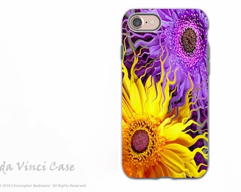 Purple and Yellow Floral iPhone 7 / 8 Tough Case - Dual Layer Protection - Daisy Yin Daisy Yang