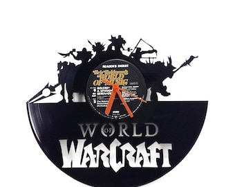 World of Warcraft Vinyl Clock