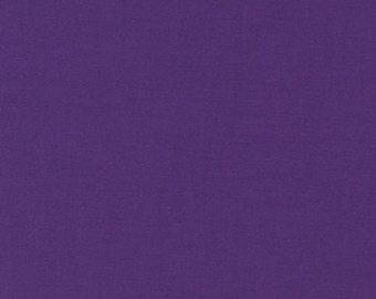 Mulberry Kona Cotton, Purple Fabric, Robert Kaufman Fabrics, Half Yard