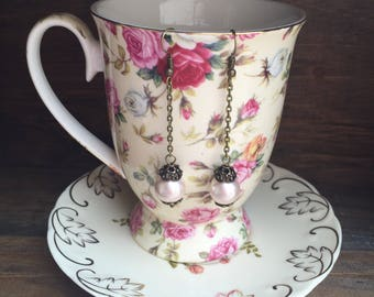 Blush pink earrings