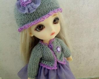 "PukiFee Lati Yellow Aquarius 15-16 сm BJD Big Set ""Purple and Gray"" for dolls of Tiny format"