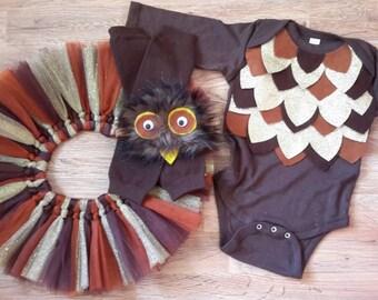 Owl Costume, Owl birthday, baby girl costume, baby owl costume, girl costumes, baby owl costume