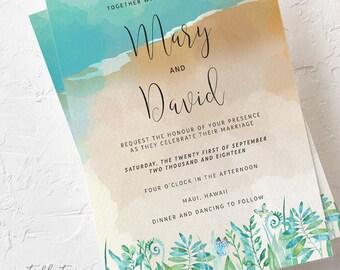 Sand Dunes - Wedding Invitations (Style 13596)