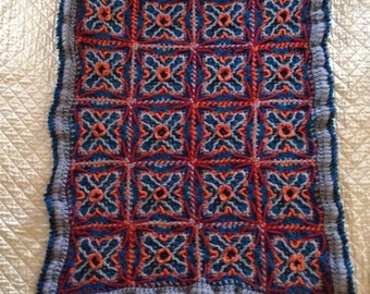 Handmade Crochet Throw Afghan