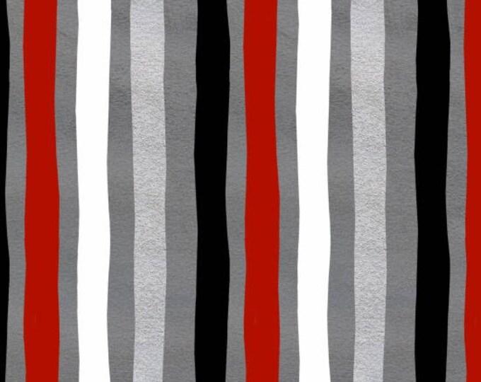 Around Town Christmas by Studio E - Around Town Stripe - Cotton Woven Fabric