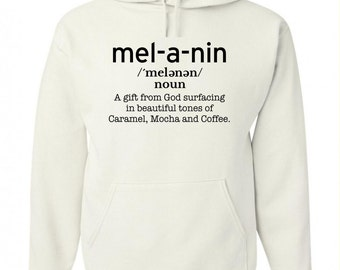 Melanin Defined White Pullover Hoodie