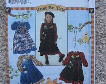 UNCUT Girls Pinafore and Dress - Simplicity Sewing Pattern 7278