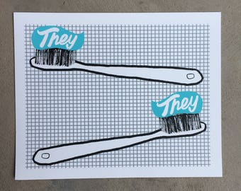 They and They - Tooth Brushes