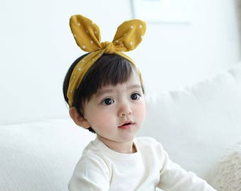 Organic cotton hairband for baby/toddler