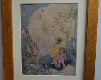 Framed Vintage Childrens' Book Illustrations